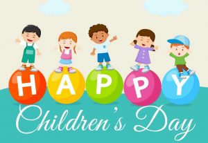 Childrens-day word