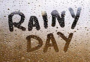 Rainy day word