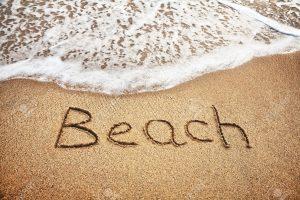 beach word art