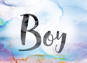 boy word art image