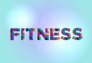 fitness word art