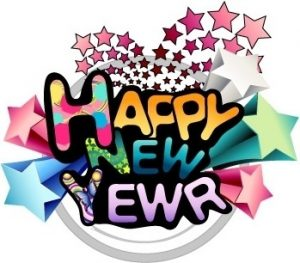 happy new year word art