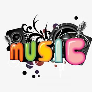 music-word art image