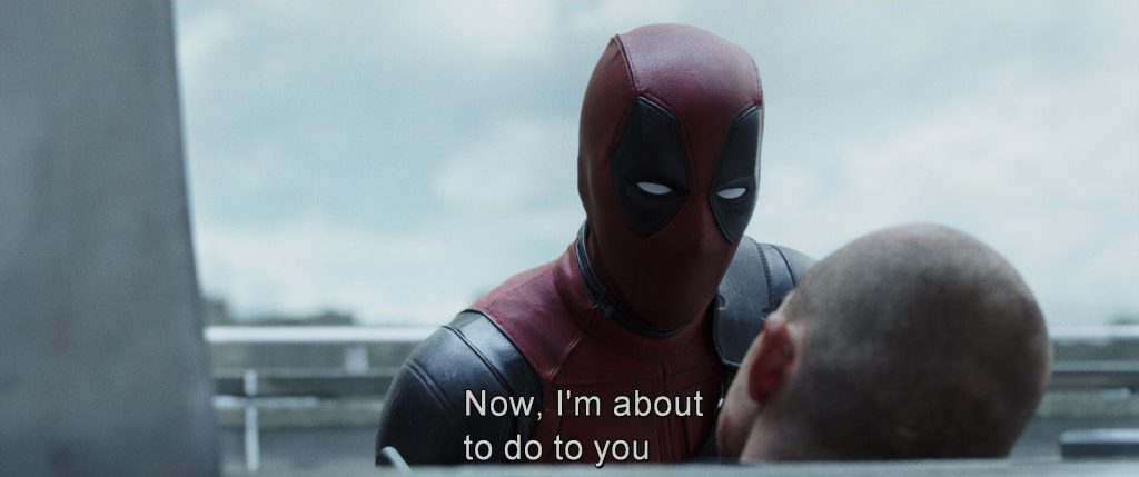 Deadpool movie caption
