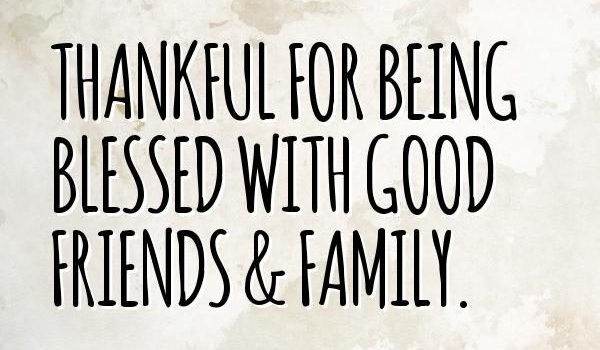 thankful quotes for friends and family