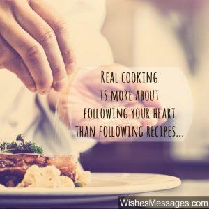 Inspiring Cooking Captions