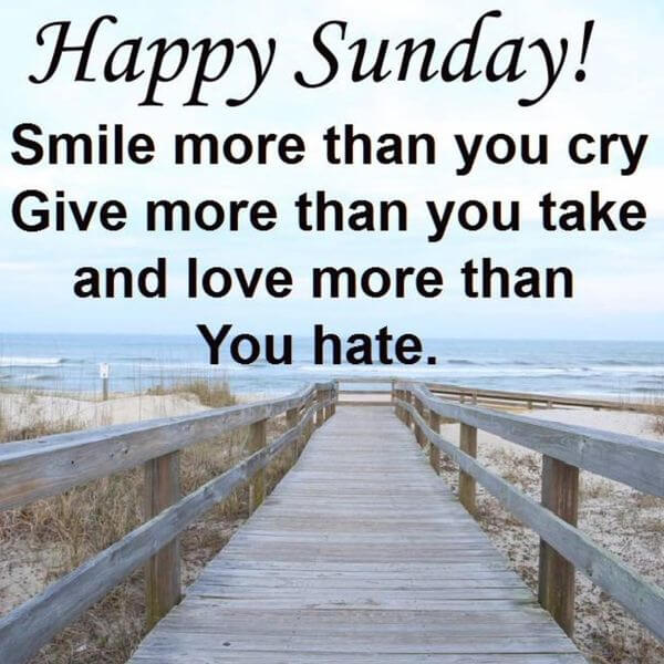 Happy Sunday Status