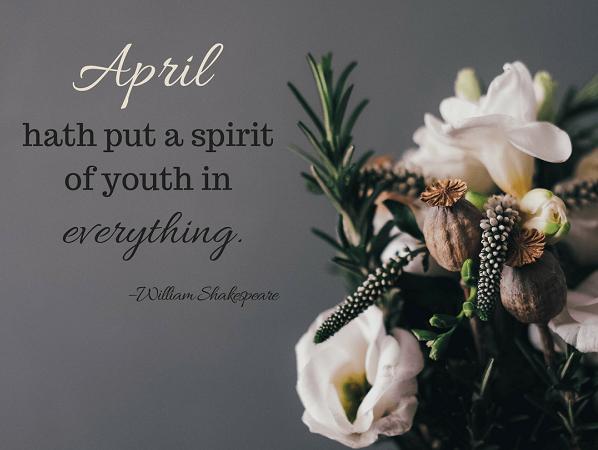 Motivational April Captions