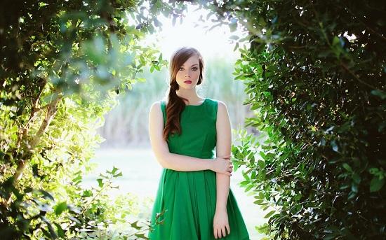 Wearing Green Caption