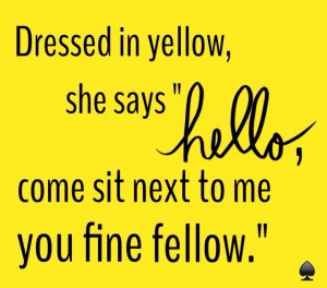 best yellow dress captions