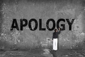 Sincere apology captions